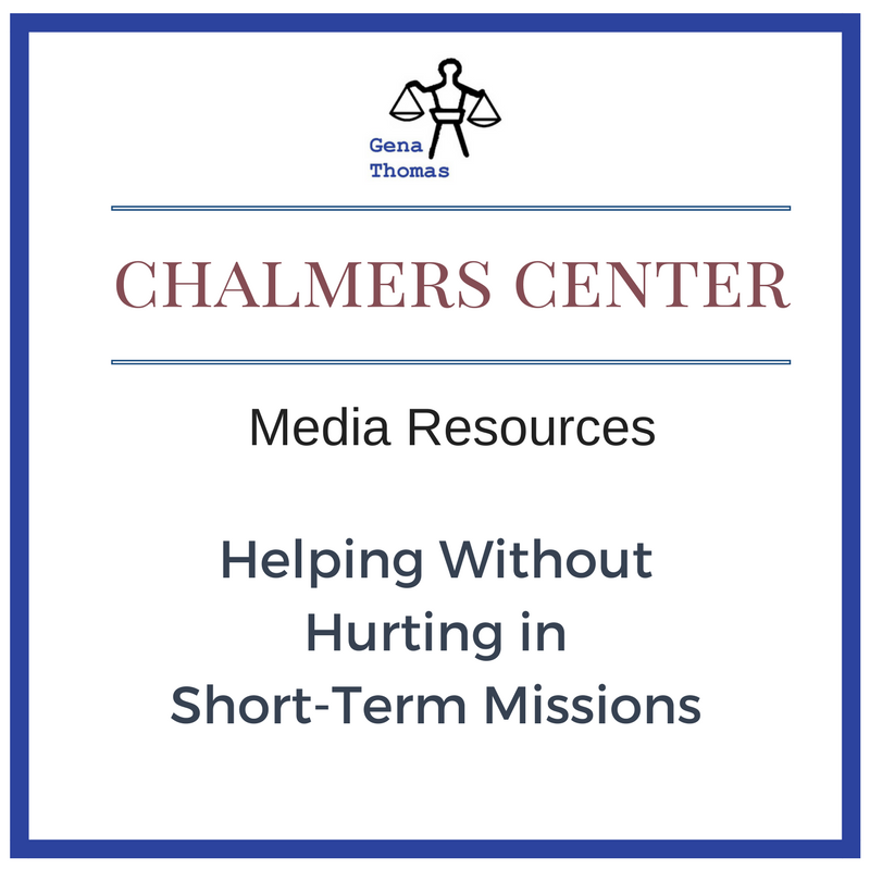 Button that links to Chalmer's Center Media Resources Page for Helping Without Hurting in Short-Term Missions