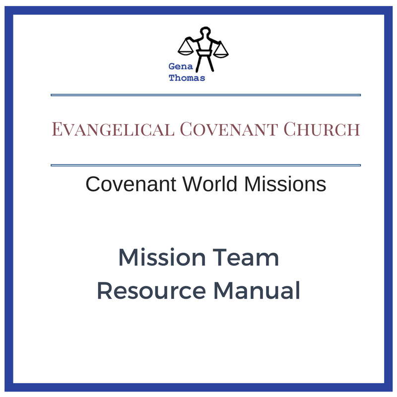Button that links to Evangelical Covenant Church's Mission Team Resource Manual page