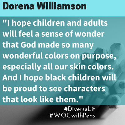 quote by Dorena Williamson on what she hopes for her bookPicture