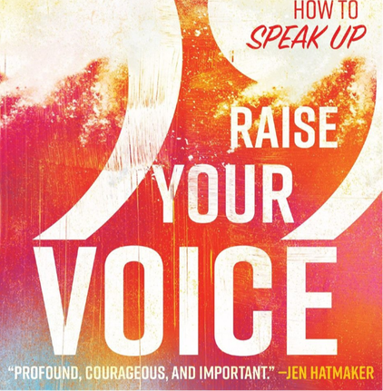 Screenshot of the book cover for Kathy Khang's Raise Your Voice