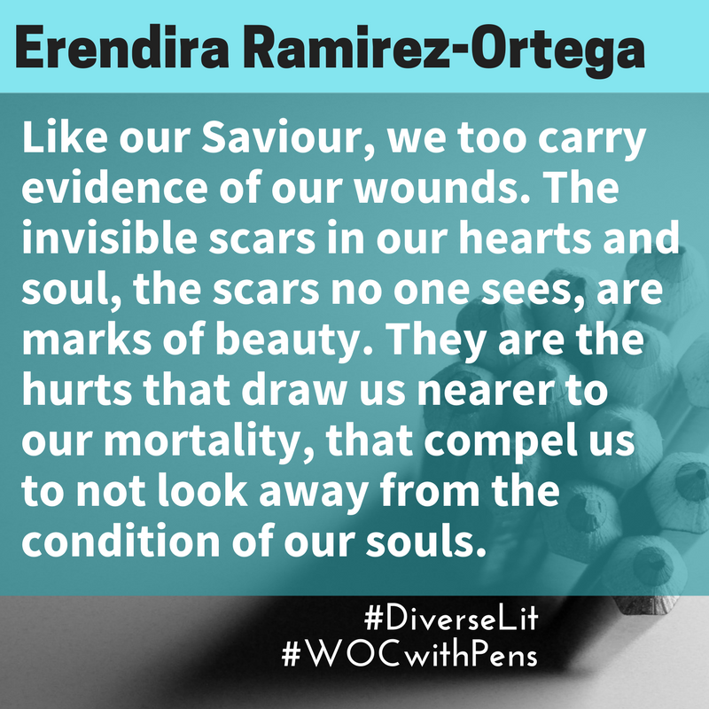 Quote by Erendira about how our scars are marks of beauty
