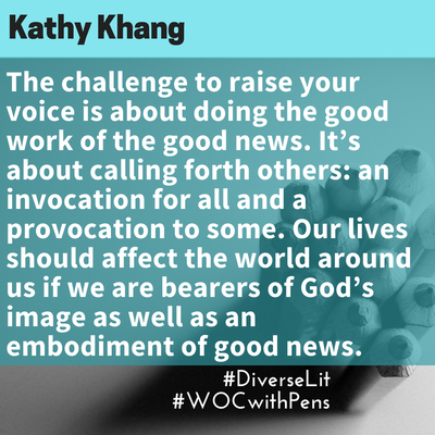 Quote from Kathy Khang about raising your voice from her book Raise Your Voice